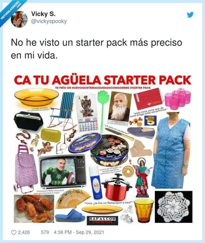 abuela,preciso,starter pack