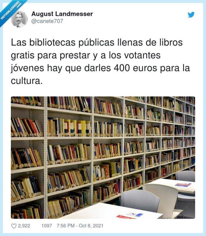 bibliotecas,cultura,jóvenes,prestar,públicas,votantes