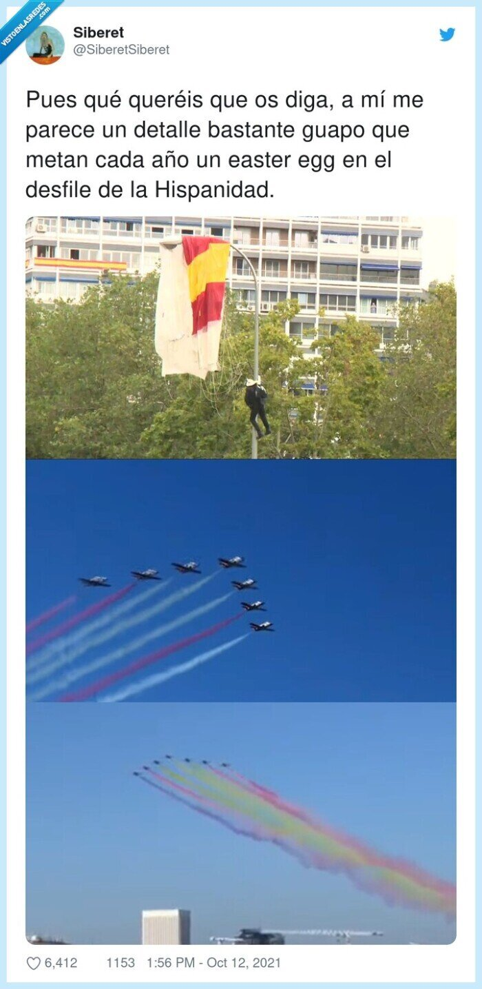 aviones,bandera,desfile,detalle,easter egg,hispanidad,republica