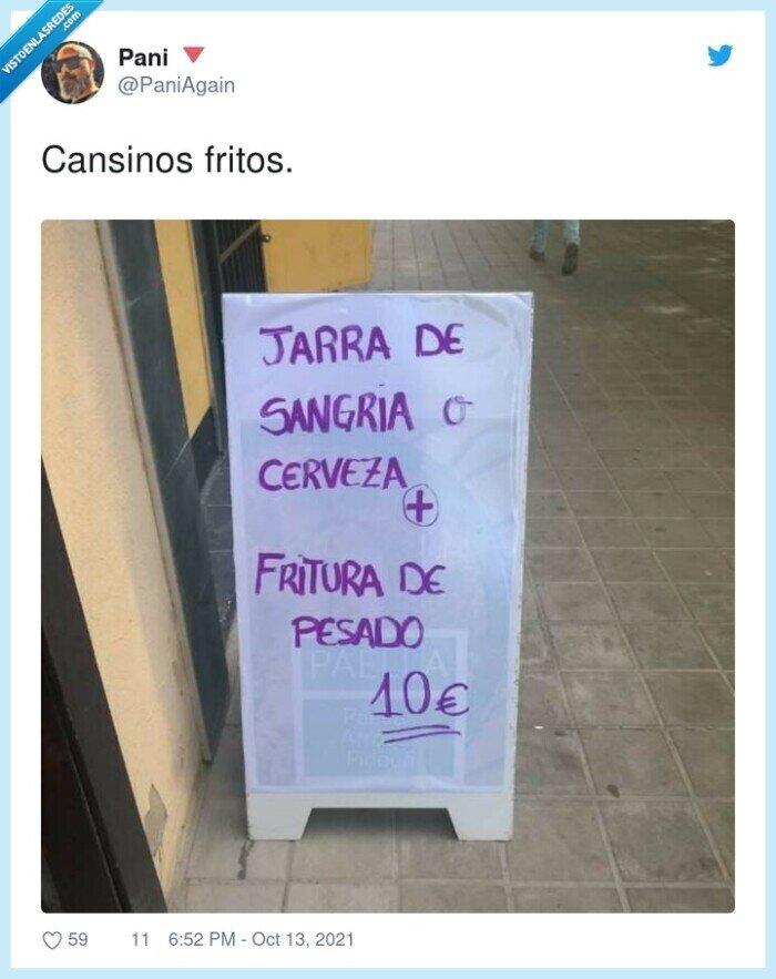 cansinos,cartel,fritos
