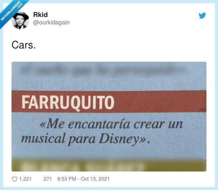 cars,disney,farruquito,musical