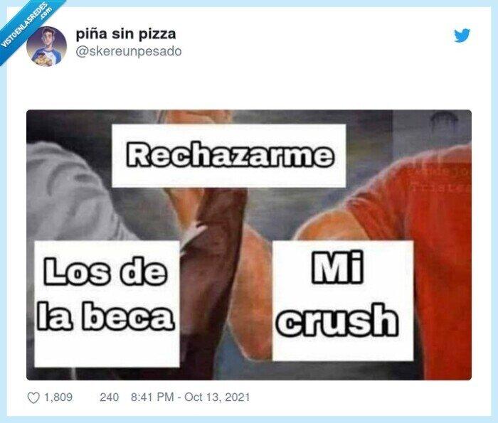 beca,crush,rechazar