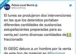 Enlace a La Policía Local de Murcia provoca las risas por lo ridículo de este alijo incautado, tanto que se ríen hasta ellos