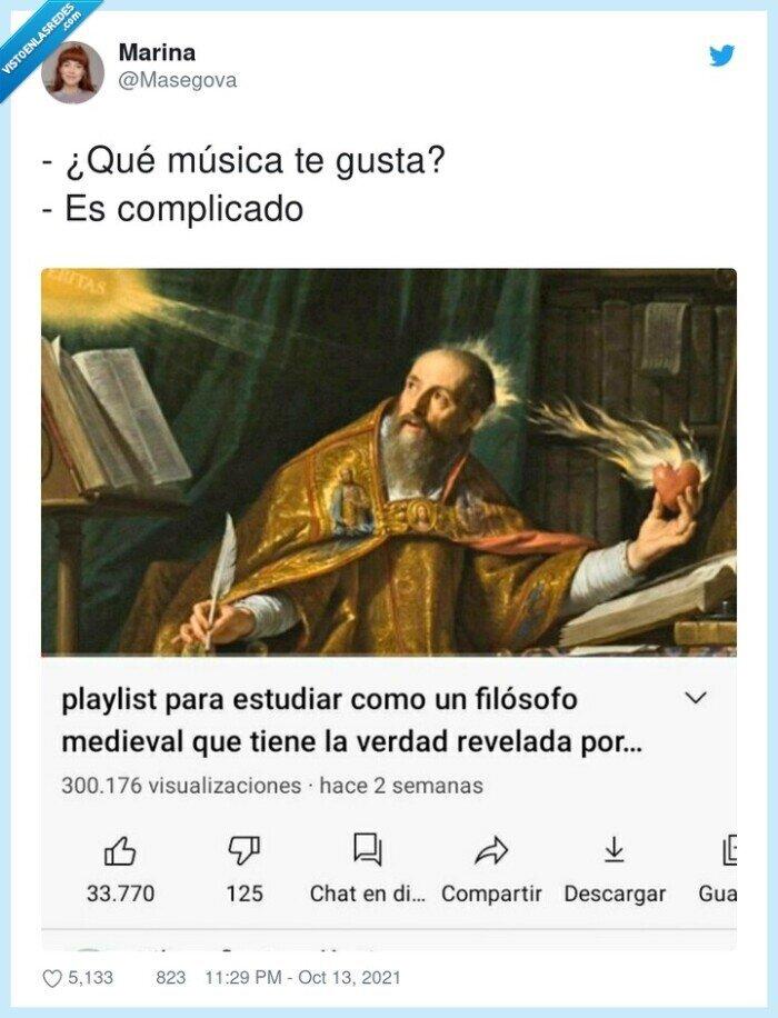 complicado,filósofo,gustar,música