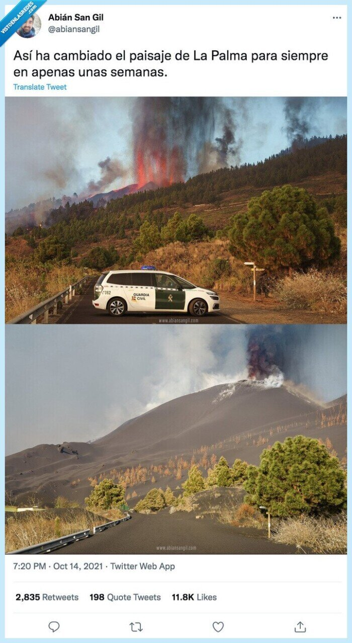 cambiar,la palma,paisaje,volcan