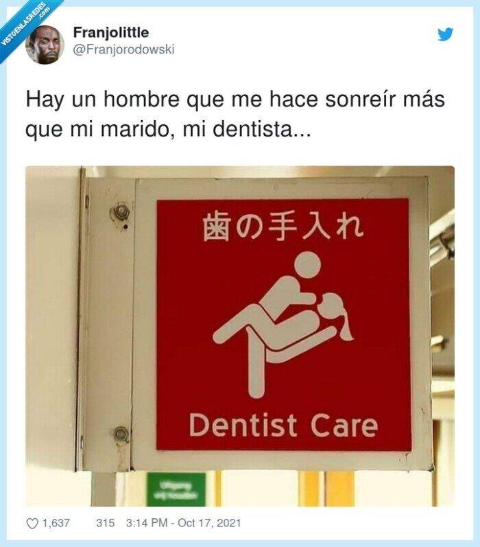 dentista,marido,sonreír