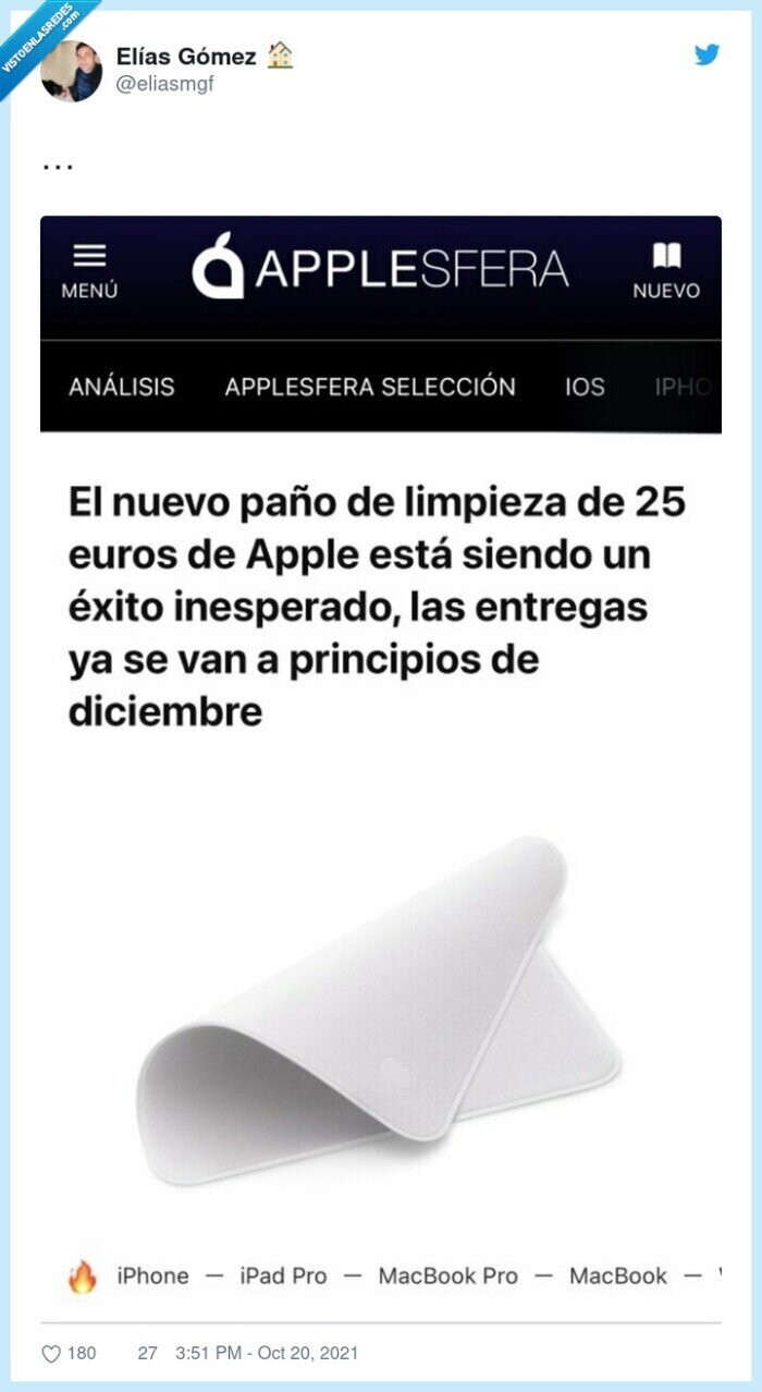 apple,ganga,paño de limpieza
