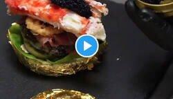 Enlace a Ésta es la hamburguesa más cara del mundo, con caviar, oro, langosta... y así la hacen