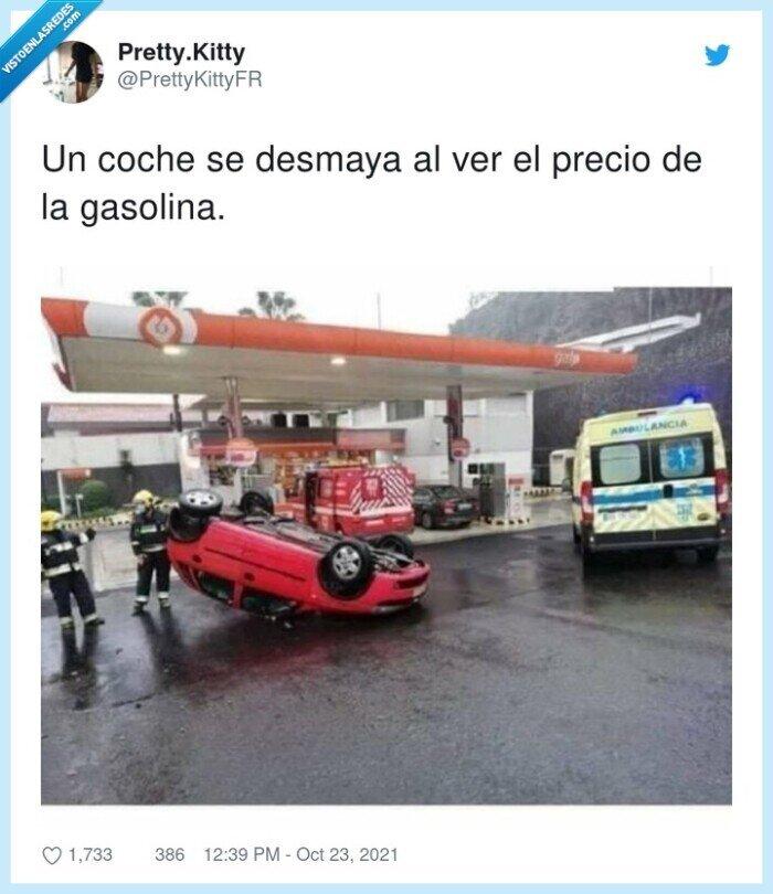 coche,desmayarse,gasolina,precio,ver