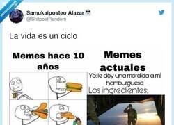 Enlace a La evolución de los memes, por @ShitpostRandom