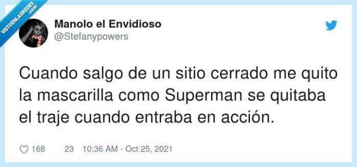 cerrado,mascarilla,quitar,superman