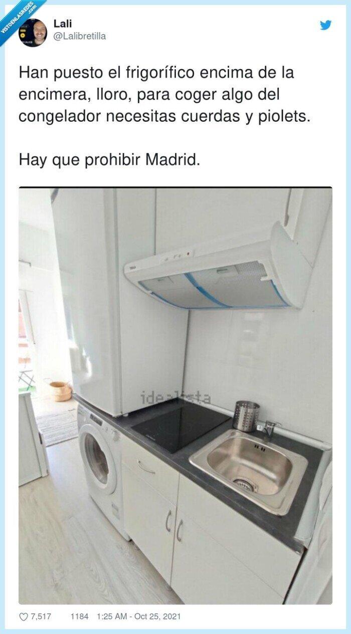 cocina,congelador,encimera,frigorífico,madrid