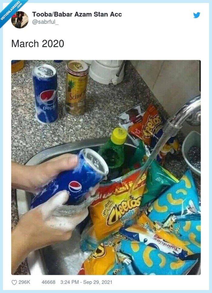 2020,bolsas,coronavirus,covid,jabón,lavar