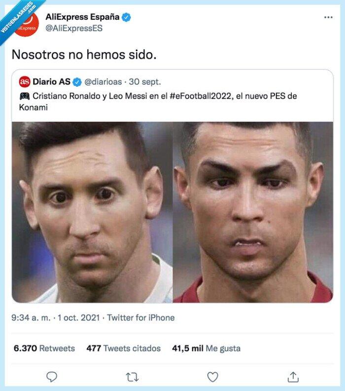 aliexpress,cristiano ronaldo,efootball 2022,konami,messi