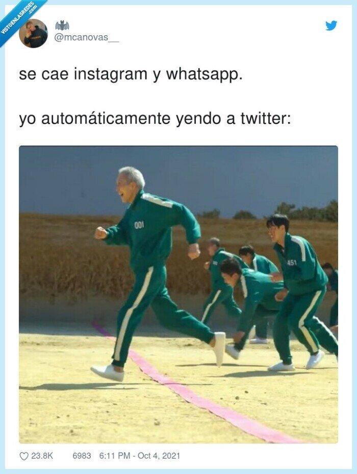 automáticamente,caída,instagram,twitter,whatsapp