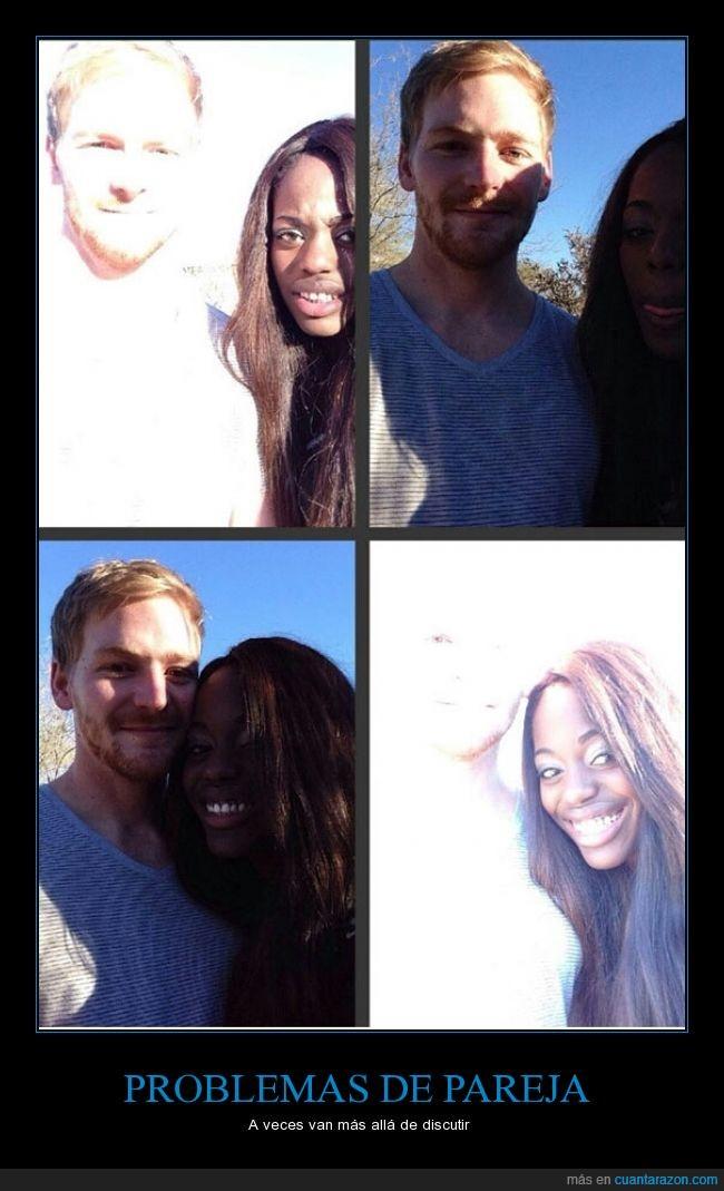 amor,blanco,brillo,colores,contraste,contrastes,equilibrio,fotografía,interracial,negra,Pareja
