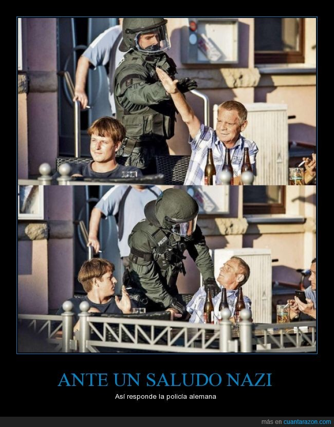 alemana,alemania,brazo,ciudadano,detener,nazi,policia,saludar,saludo