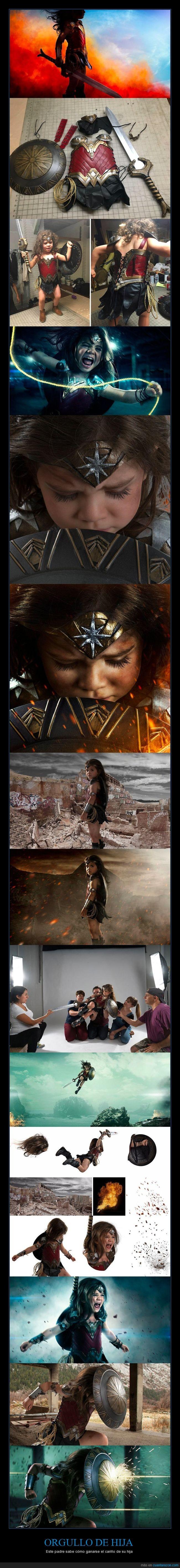 fotografía,niña,superheroína,wonder woman