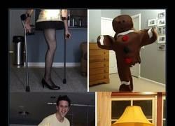 Enlace a Hombre con una sola pierna prepara un disfraz cada Halloween y acaba de mostrar su última idea
