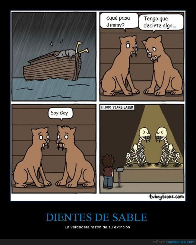 dientes de sable,extinción,homose xualidad,noé