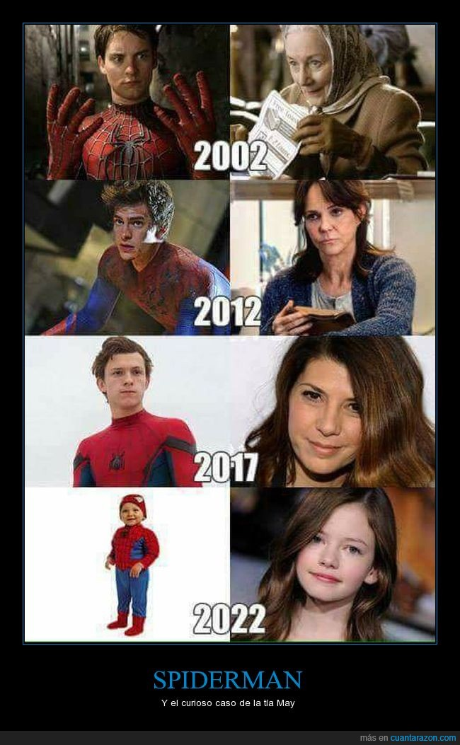 bebé,el curioso caso de benjamin button,Marvel,milf,spiderman,tía May