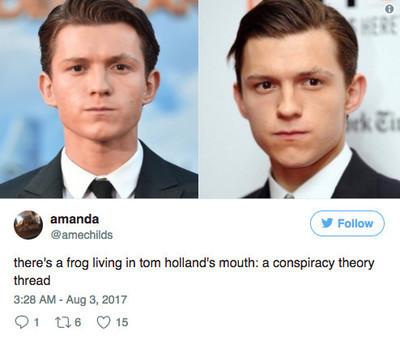 16647 - Tom Holland responde al meme que afirma que siempre hay una rana dentro de su boca