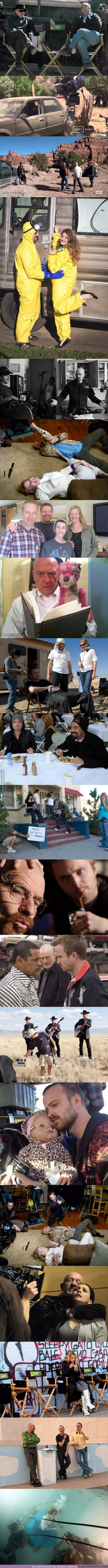 16882 - Tenemos imágenes inéditas del rodaje de Breaking Bad y algunas son muy divertidas