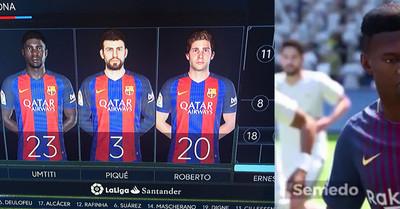 1001454 - Todo el mundo se está echando las manos a la cabeza con las caras de Dembélé y Semedo en el FIFA18